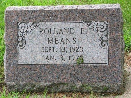 MEANS, ROLLAND E. - Burt County, Nebraska | ROLLAND E. MEANS - Nebraska Gravestone Photos