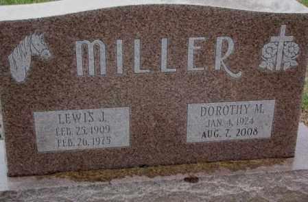 MILLER, LEWIS J. - Burt County, Nebraska | LEWIS J. MILLER - Nebraska Gravestone Photos