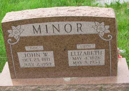 "MINOR, ELIZABETH ""LIZZIE"" - Burt County, Nebraska 