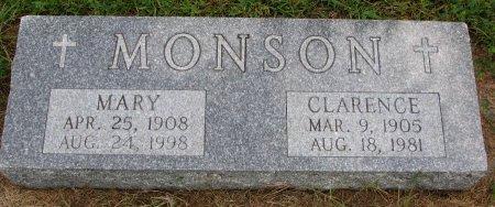 MONSON, MARY - Burt County, Nebraska | MARY MONSON - Nebraska Gravestone Photos