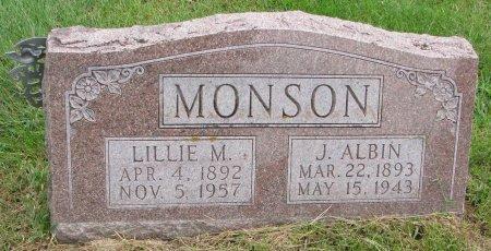 MONSON, J. ALBIN - Burt County, Nebraska | J. ALBIN MONSON - Nebraska Gravestone Photos
