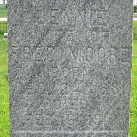 MOORE, JENNIE (CLOSE UP) - Burt County, Nebraska | JENNIE (CLOSE UP) MOORE - Nebraska Gravestone Photos