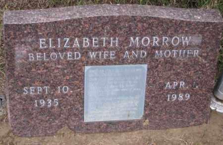 MORROW, ELIZABETH - Burt County, Nebraska | ELIZABETH MORROW - Nebraska Gravestone Photos