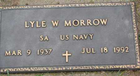 MORROW, LYLE W. - Burt County, Nebraska   LYLE W. MORROW - Nebraska Gravestone Photos