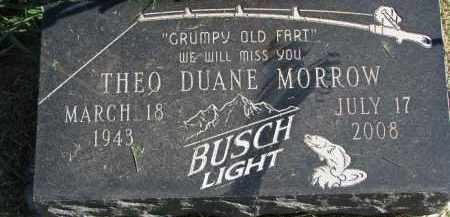MORROW, THEO DUANE - Burt County, Nebraska   THEO DUANE MORROW - Nebraska Gravestone Photos