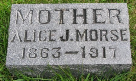 MORSE, ALICE JANE - Burt County, Nebraska | ALICE JANE MORSE - Nebraska Gravestone Photos
