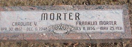 MORTER, CAROLINE V. - Burt County, Nebraska | CAROLINE V. MORTER - Nebraska Gravestone Photos