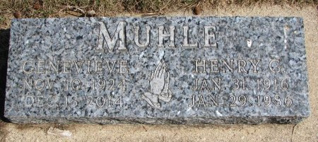MUHLE, HENRY G. - Burt County, Nebraska   HENRY G. MUHLE - Nebraska Gravestone Photos