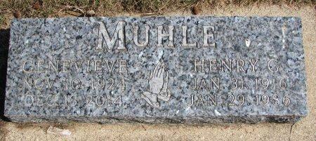 MUHLE, GENEVIEVE - Burt County, Nebraska | GENEVIEVE MUHLE - Nebraska Gravestone Photos