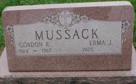 MUSSACK, GORDON R. - Burt County, Nebraska   GORDON R. MUSSACK - Nebraska Gravestone Photos