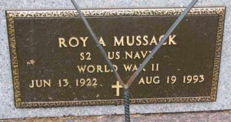 MUSSACK, ROY A. (WW II) - Burt County, Nebraska | ROY A. (WW II) MUSSACK - Nebraska Gravestone Photos