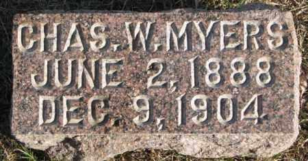 MYERS, CHAS. W. - Burt County, Nebraska | CHAS. W. MYERS - Nebraska Gravestone Photos