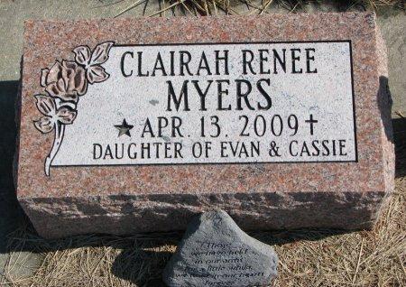 MYERS, CLAIRAH RENEE - Burt County, Nebraska | CLAIRAH RENEE MYERS - Nebraska Gravestone Photos