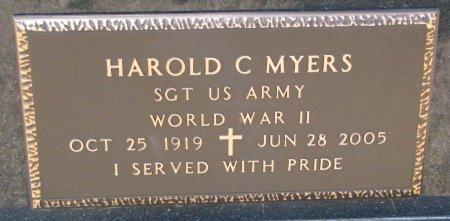 MYERS, HAROLD C. (MILITARY) - Burt County, Nebraska | HAROLD C. (MILITARY) MYERS - Nebraska Gravestone Photos