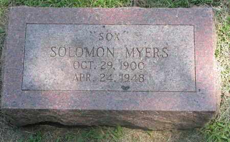 "MYERS, SOLOMON ""SOX"" - Burt County, Nebraska   SOLOMON ""SOX"" MYERS - Nebraska Gravestone Photos"