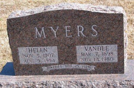 MYERS, HELEN - Burt County, Nebraska | HELEN MYERS - Nebraska Gravestone Photos