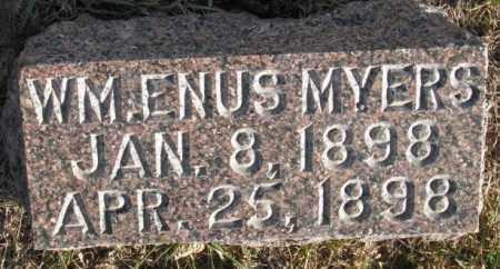 MYERS, WM. ENUS - Burt County, Nebraska   WM. ENUS MYERS - Nebraska Gravestone Photos