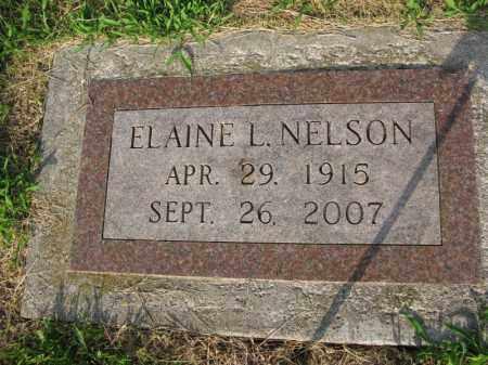 NELSON, ELAINE L. - Burt County, Nebraska   ELAINE L. NELSON - Nebraska Gravestone Photos
