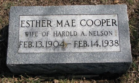 NELSON, ESTHER MAE - Burt County, Nebraska | ESTHER MAE NELSON - Nebraska Gravestone Photos
