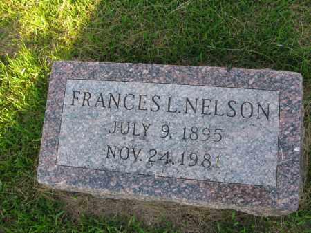 NELSON, FRANCES L. - Burt County, Nebraska   FRANCES L. NELSON - Nebraska Gravestone Photos