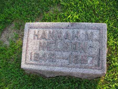 NELSON, HANNAH M. - Burt County, Nebraska | HANNAH M. NELSON - Nebraska Gravestone Photos