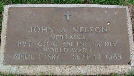 NELSON, JOHN A. - Burt County, Nebraska   JOHN A. NELSON - Nebraska Gravestone Photos