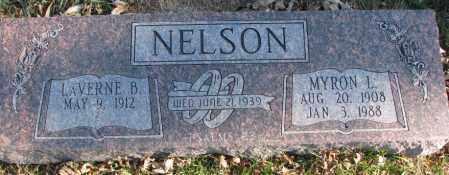 NELSON, MYRON L - Burt County, Nebraska | MYRON L NELSON - Nebraska Gravestone Photos