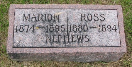 NEWELL, MARION - Burt County, Nebraska | MARION NEWELL - Nebraska Gravestone Photos