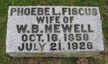 FISCUS NEWELL, PHOEBE L. - Burt County, Nebraska | PHOEBE L. FISCUS NEWELL - Nebraska Gravestone Photos
