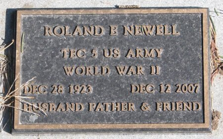 NEWELL, ROLAND E. (MILITARY) - Burt County, Nebraska   ROLAND E. (MILITARY) NEWELL - Nebraska Gravestone Photos