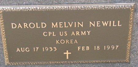 NEWILL, DAROLD MELVIN (MILITARY) - Burt County, Nebraska | DAROLD MELVIN (MILITARY) NEWILL - Nebraska Gravestone Photos