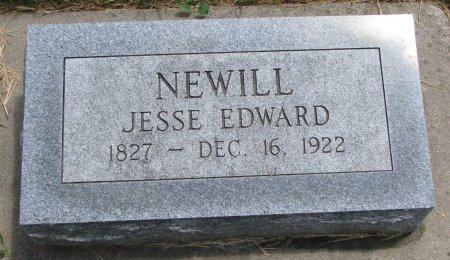 NEWILL, JESSE EDWARD - Burt County, Nebraska | JESSE EDWARD NEWILL - Nebraska Gravestone Photos