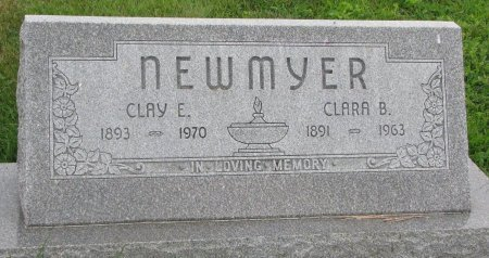 NEWMYER, CLAY E. - Burt County, Nebraska   CLAY E. NEWMYER - Nebraska Gravestone Photos