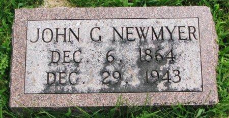 NEWMYER, JOHN G. - Burt County, Nebraska | JOHN G. NEWMYER - Nebraska Gravestone Photos