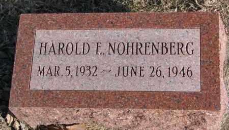 NOHRENBERG, HAROLD F. - Burt County, Nebraska | HAROLD F. NOHRENBERG - Nebraska Gravestone Photos