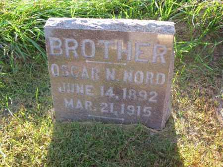 NORD, OSCAR N. - Burt County, Nebraska   OSCAR N. NORD - Nebraska Gravestone Photos