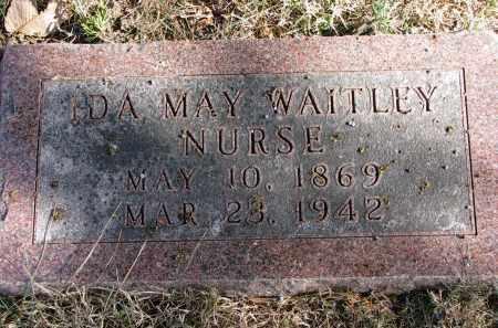 WAITLEY NURSE, IDA MAY - Burt County, Nebraska | IDA MAY WAITLEY NURSE - Nebraska Gravestone Photos