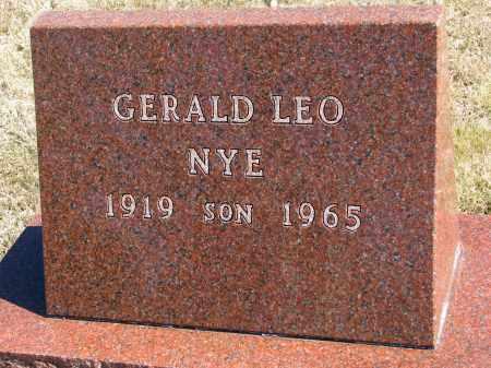 NYE, GERALD LEO - Burt County, Nebraska | GERALD LEO NYE - Nebraska Gravestone Photos