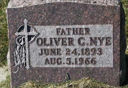 NYE, OLIVER C. - Burt County, Nebraska | OLIVER C. NYE - Nebraska Gravestone Photos