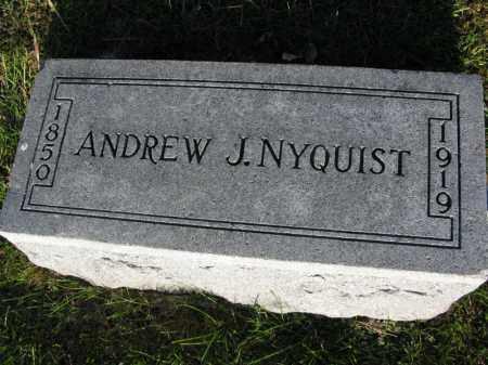 NYQUIST, ANDREW J. - Burt County, Nebraska | ANDREW J. NYQUIST - Nebraska Gravestone Photos