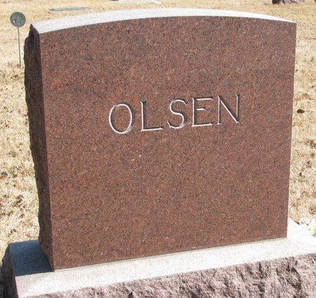 OLSEN, *FAMILY MONUMENT - Burt County, Nebraska   *FAMILY MONUMENT OLSEN - Nebraska Gravestone Photos