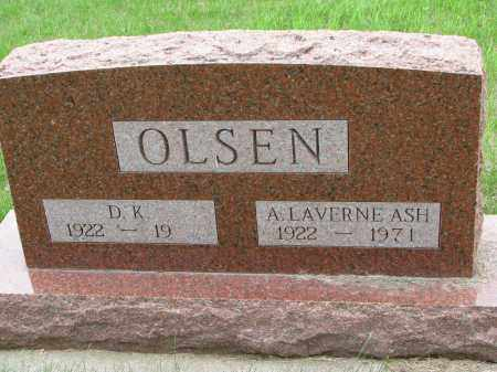 OLSEN, A. LAVERNE - Burt County, Nebraska | A. LAVERNE OLSEN - Nebraska Gravestone Photos