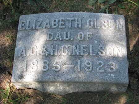 OLSEN, ELIZABETH - Burt County, Nebraska   ELIZABETH OLSEN - Nebraska Gravestone Photos