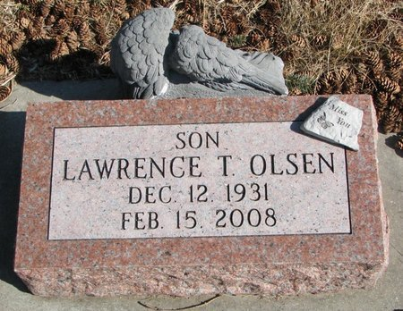 OLSEN, LAWRENCE T. - Burt County, Nebraska | LAWRENCE T. OLSEN - Nebraska Gravestone Photos
