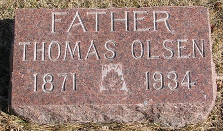 OLSEN, THOMAS - Burt County, Nebraska | THOMAS OLSEN - Nebraska Gravestone Photos