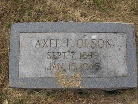 OLSON, AXEL L. - Burt County, Nebraska | AXEL L. OLSON - Nebraska Gravestone Photos