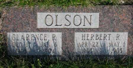 OLSON, CLARENCE R. - Burt County, Nebraska | CLARENCE R. OLSON - Nebraska Gravestone Photos