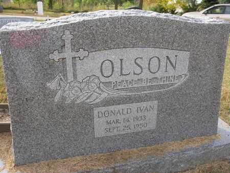 OLSON, DONALD IVAN - Burt County, Nebraska | DONALD IVAN OLSON - Nebraska Gravestone Photos