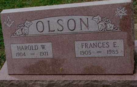 OLSON, FRANCES E. - Burt County, Nebraska | FRANCES E. OLSON - Nebraska Gravestone Photos