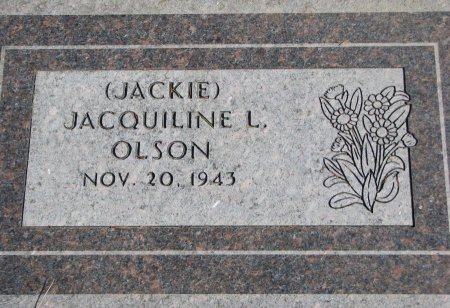 "OLSON, JACQUILINE L. ""JACKIE"" - Burt County, Nebraska   JACQUILINE L. ""JACKIE"" OLSON - Nebraska Gravestone Photos"
